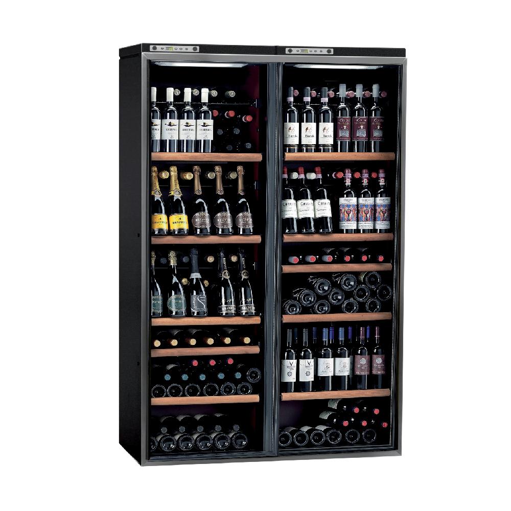 Wine cellar with anthracite door