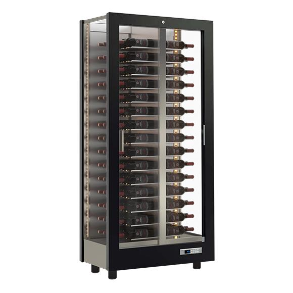 refrigerated wine display case